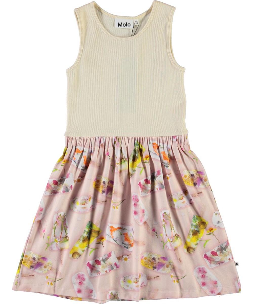 Colleen - Ice Lollies - Organic vest dress with ice cream
