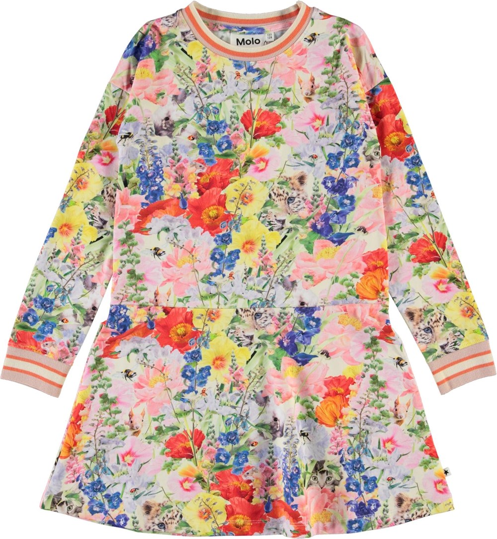 Conny - Hide And Seek - Organic dress with floral print