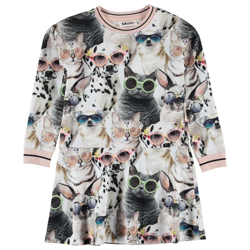 Conny - Sunny Funny - Dress with print of animals with sunglasses.