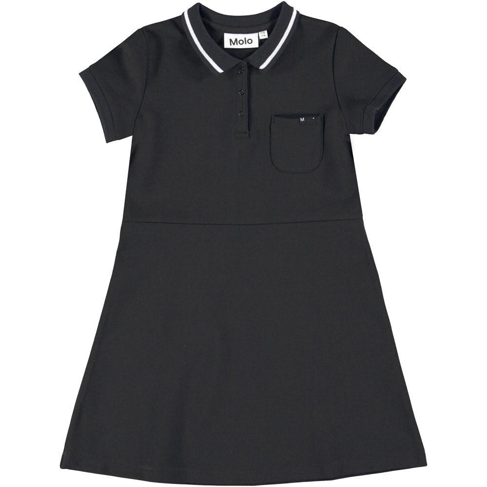 Coral - Black - Dress