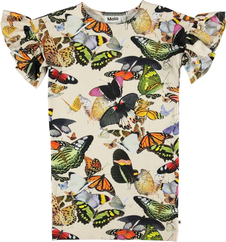 Coralie - Papillon - Organic dress with butterflies