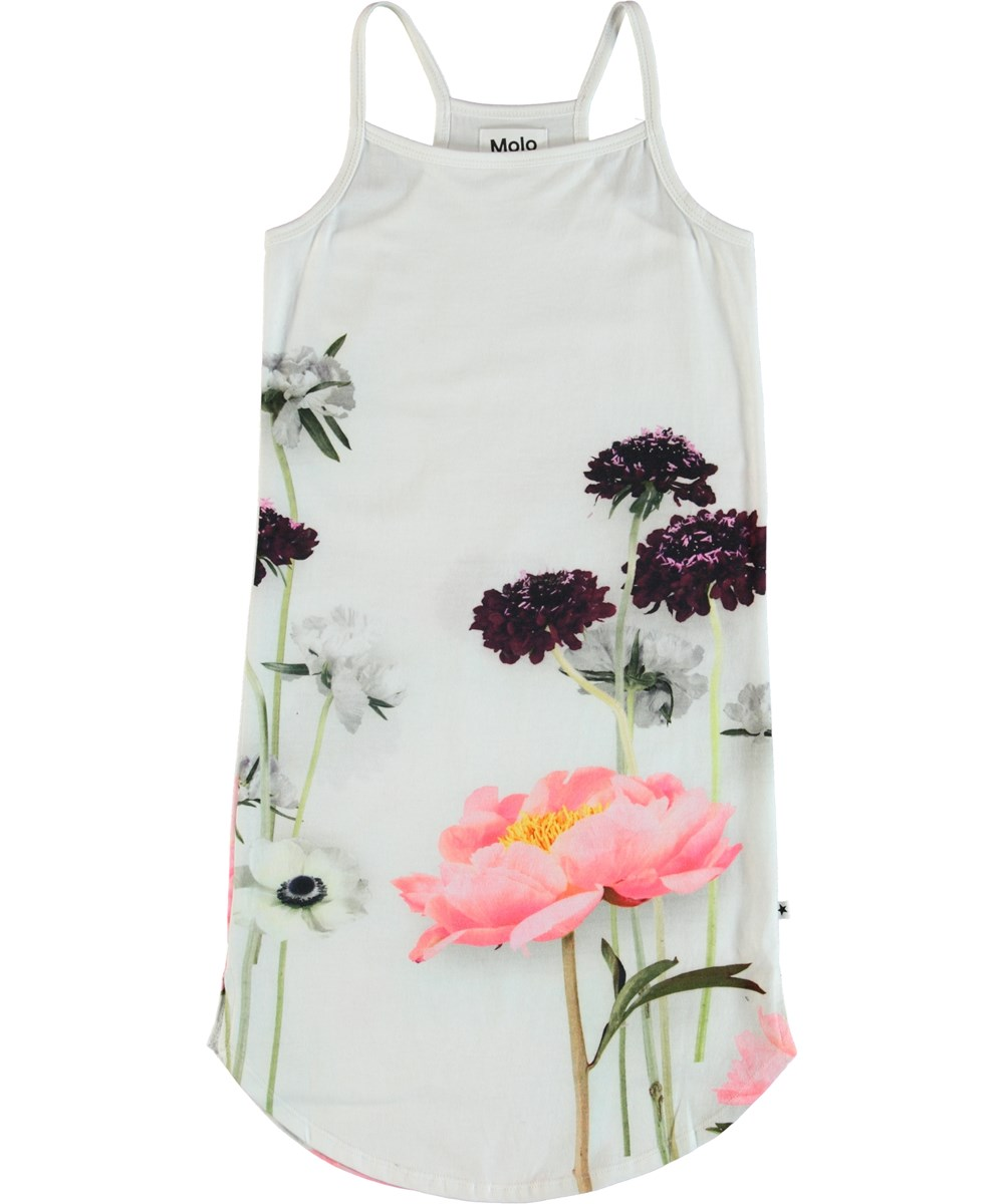Cortney - Single Flower - Dress with straps and flower print