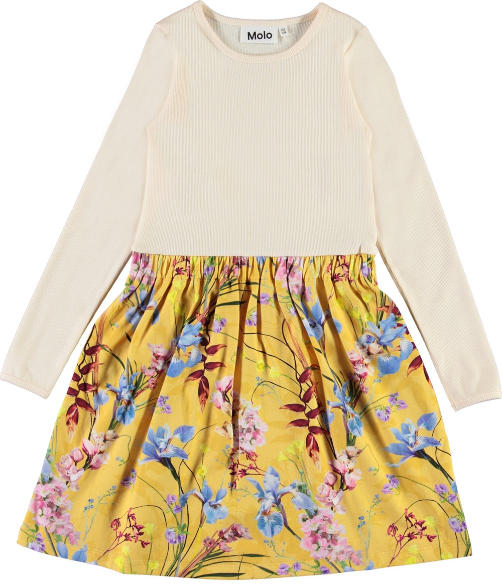 Credence - The Art Of Flowers - Organic dress with rib and floral print