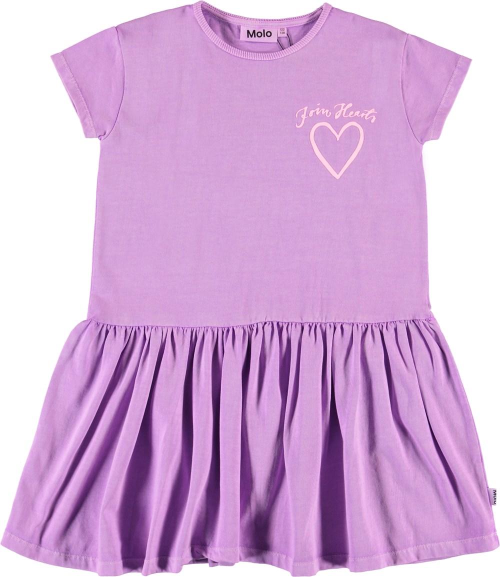 Cressida - Manga Purple - Purple organic dress with heart