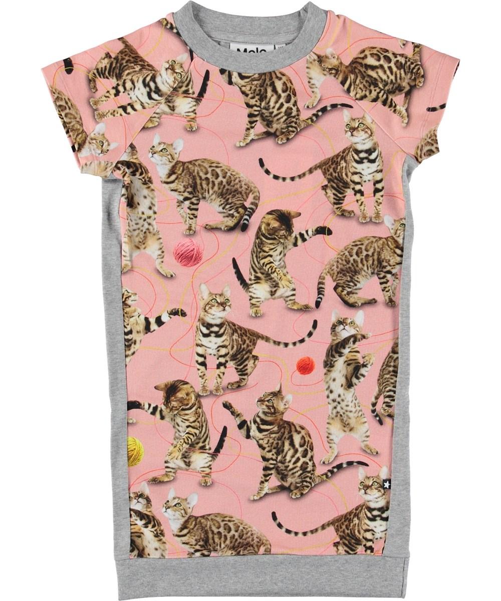 Cyrilli - Wannabe Leopard - T-shirt dress with cats.