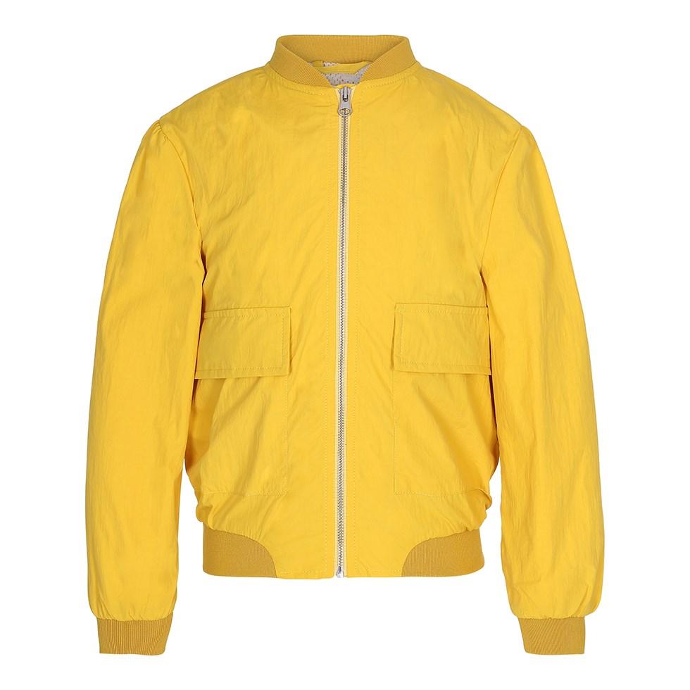 Halfrida - Solaris - Sport yellow bomber jacket with zipper