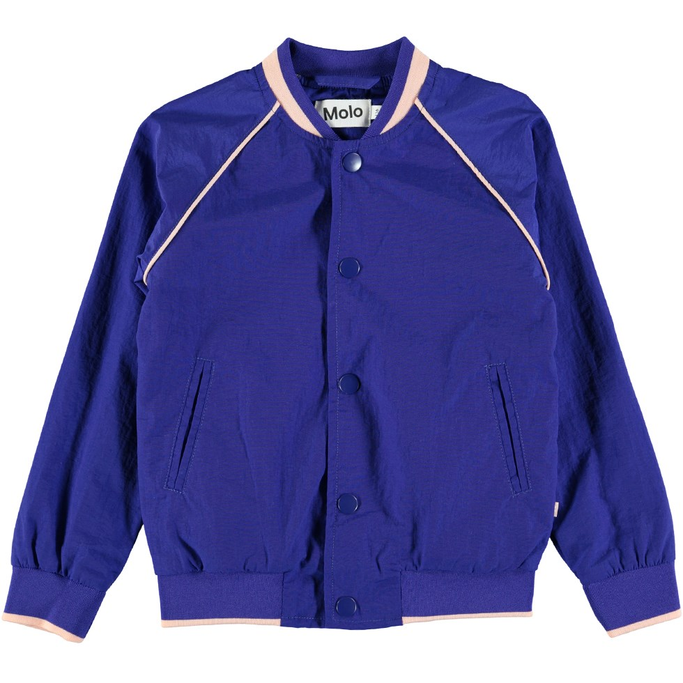 Harrietta - Primary Blue - Sporty blue college jacket
