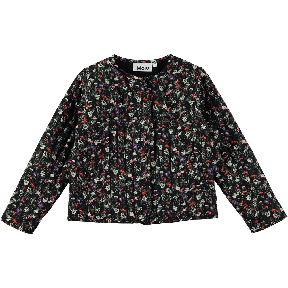 Hasina - Tiny Flowers Poplin - flower jacket