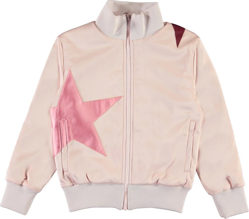 Hazel - Multi Stars - Pink bomber jacket with stars