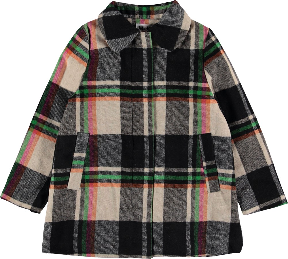 Hilda - Wintry Check - Plaid winter coat.