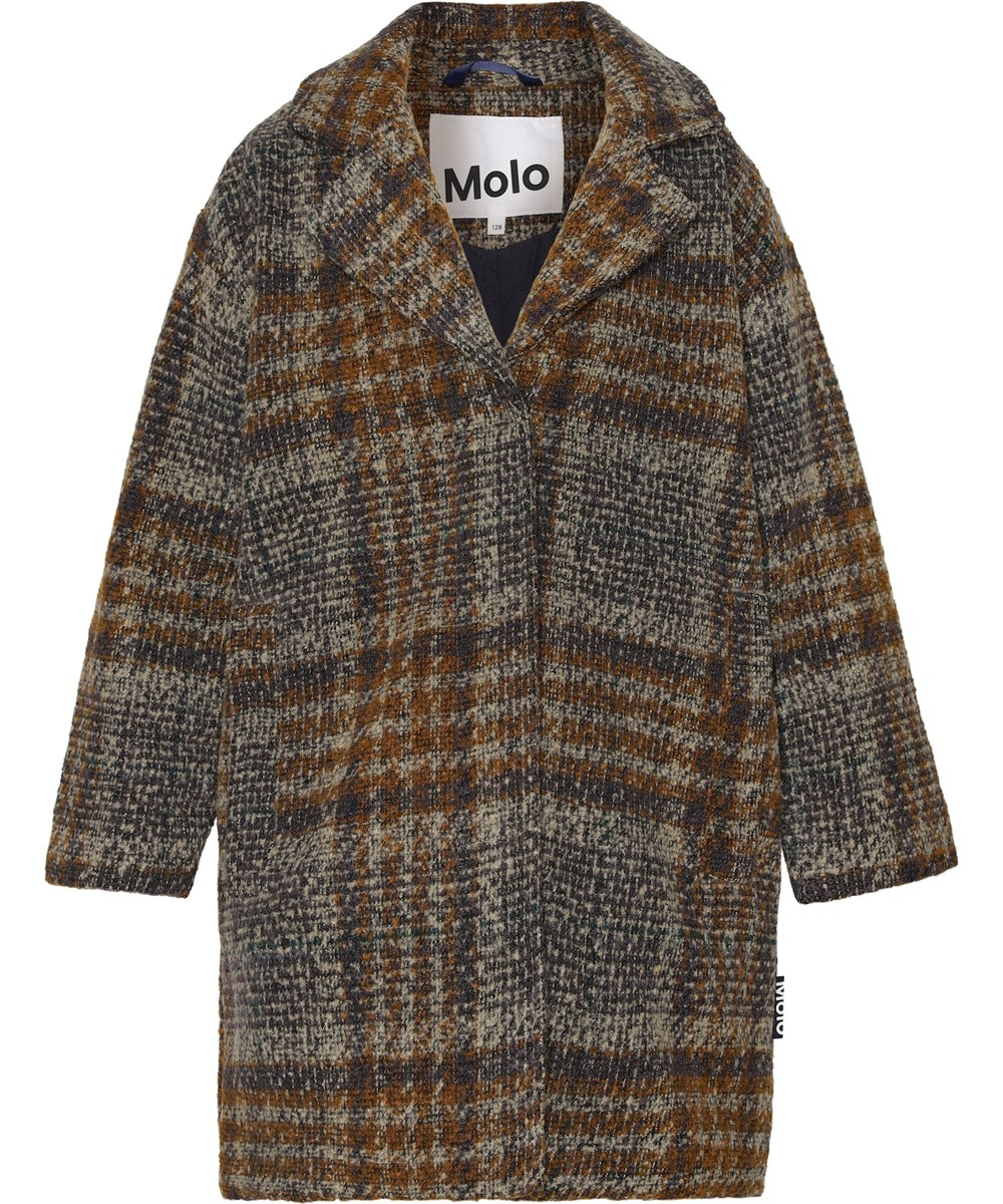 Holla - Big Check - Plaid wool coat