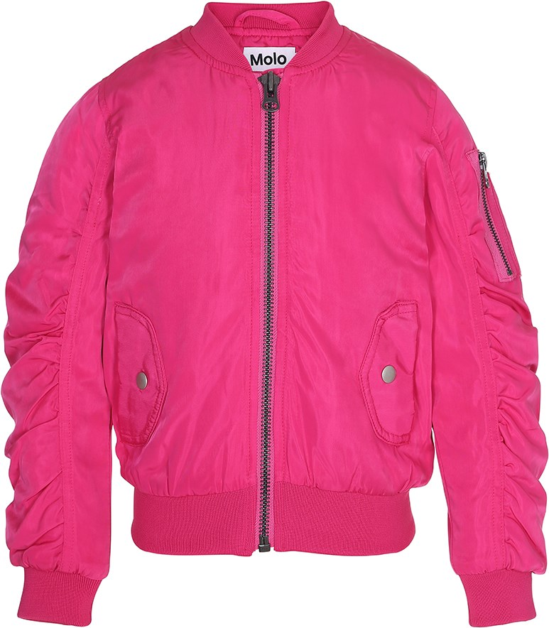 Holly - Dragon Fruit - Neon pink bomber jacket