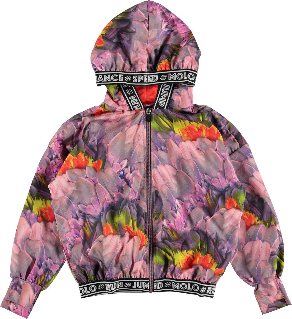 Ophelia - Cacatua - Floral sports jacket with hood