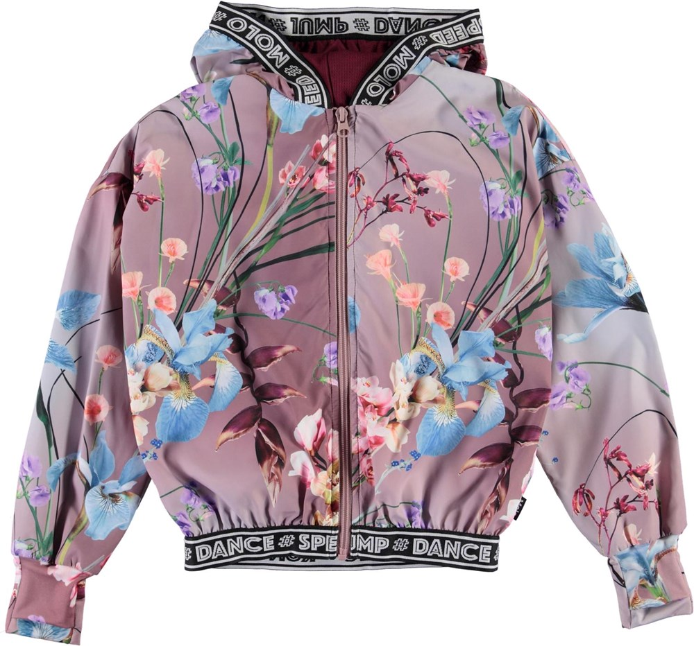 Ophelia - Motion Flowers - Rose sports jacket with floral print
