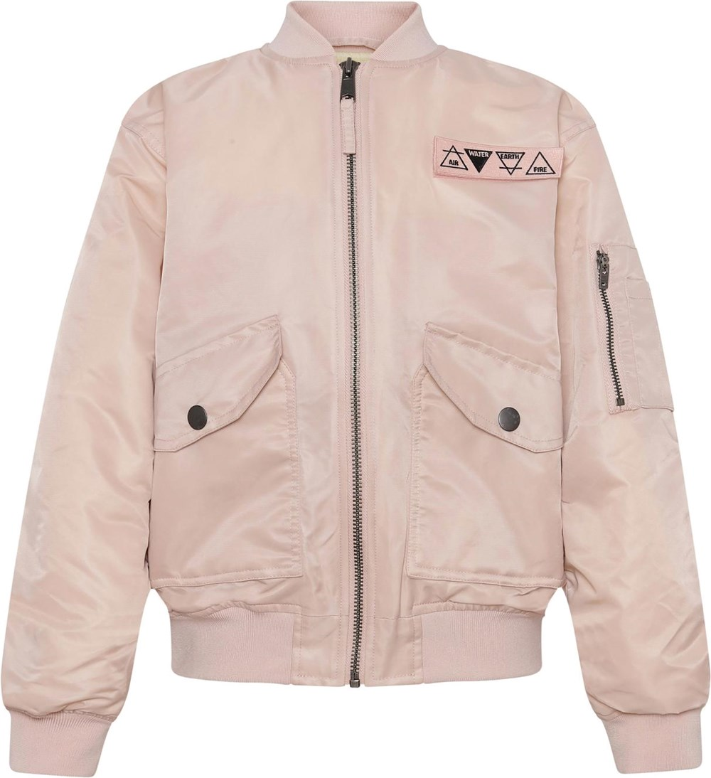 Heath - Cameo Rose - Rose bomber jacket with large pockets