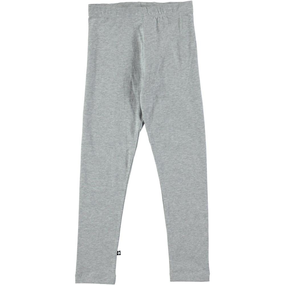 Nica - Grey Melange - Long grey melange leggings