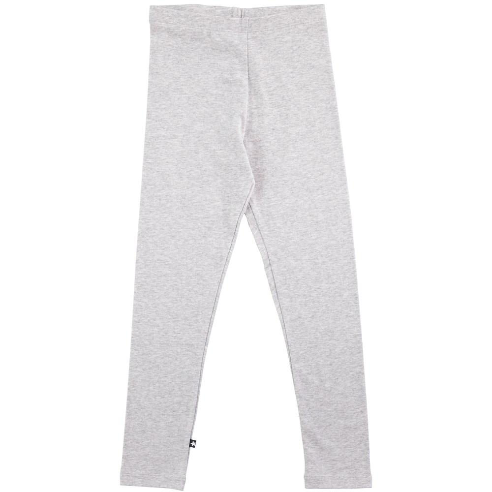 Nica - Grey Melange - grey cotton leggings