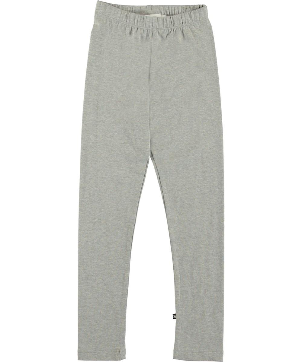 Nica - Grey Melange - Grey leggings.