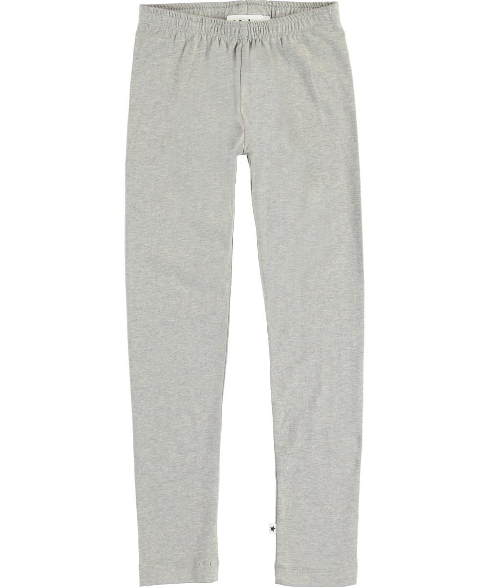 Nica - Grey Melange - Organic grey leggings