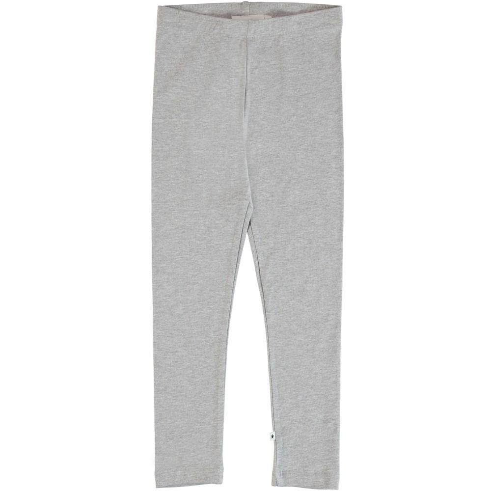Nica - Light Grey Melange - Light grey leggings.