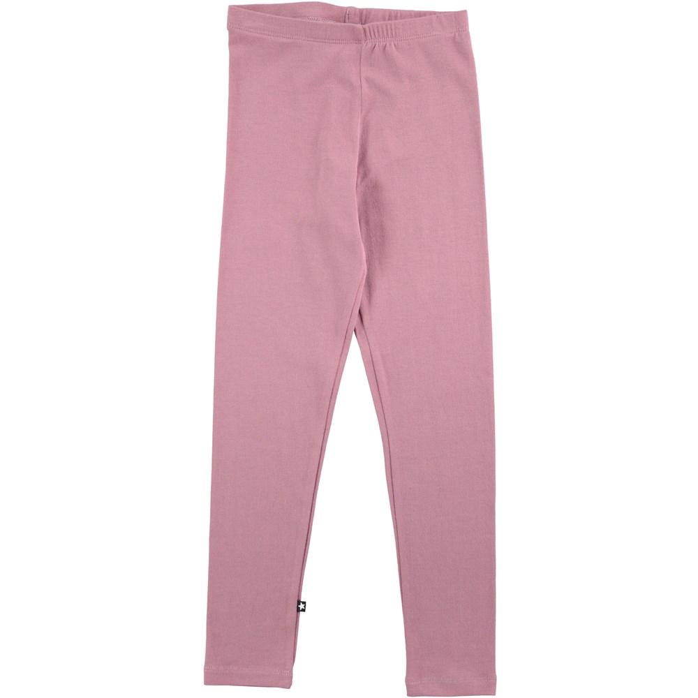 Nica - Purple Mist - dusty rose cotton leggings