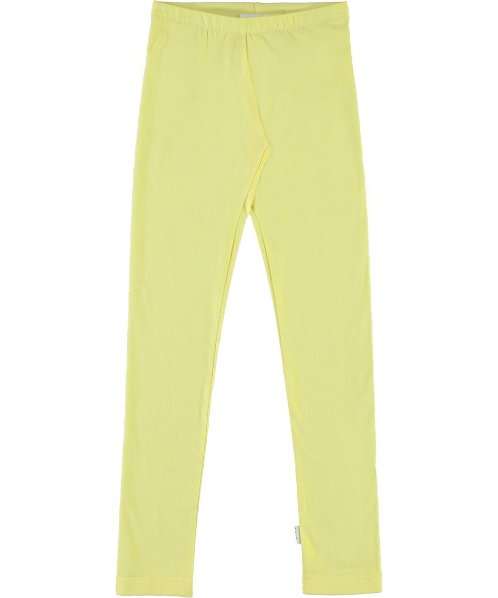 Nica - Pale Lemon - Yellow organic leggings