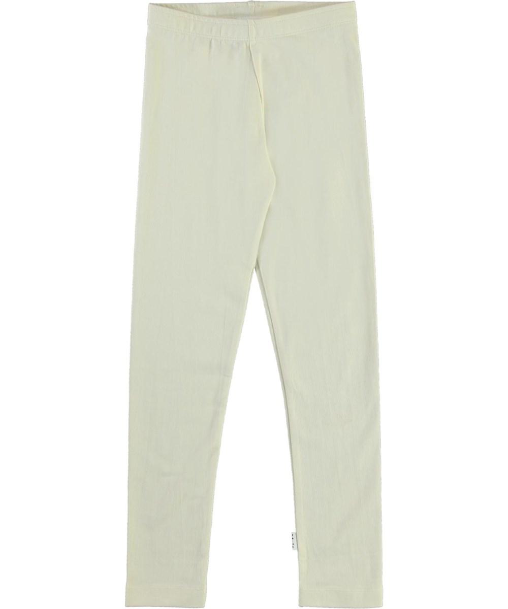 Nica - Pearled Ivory - Light coloured organic leggings
