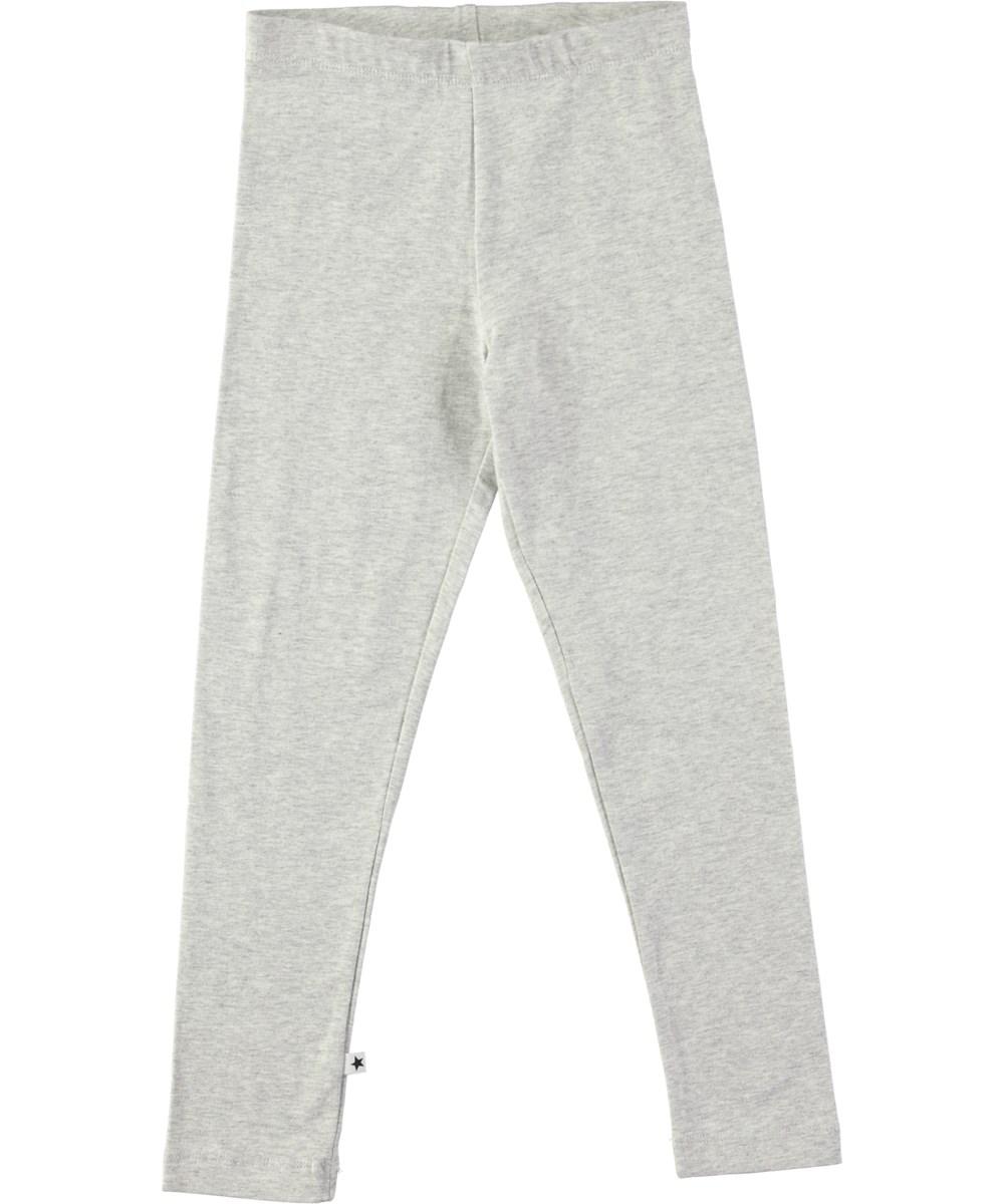5609c7822a59d1 Nica - Light Grey Melange - Long light grey leggings with elastic waist