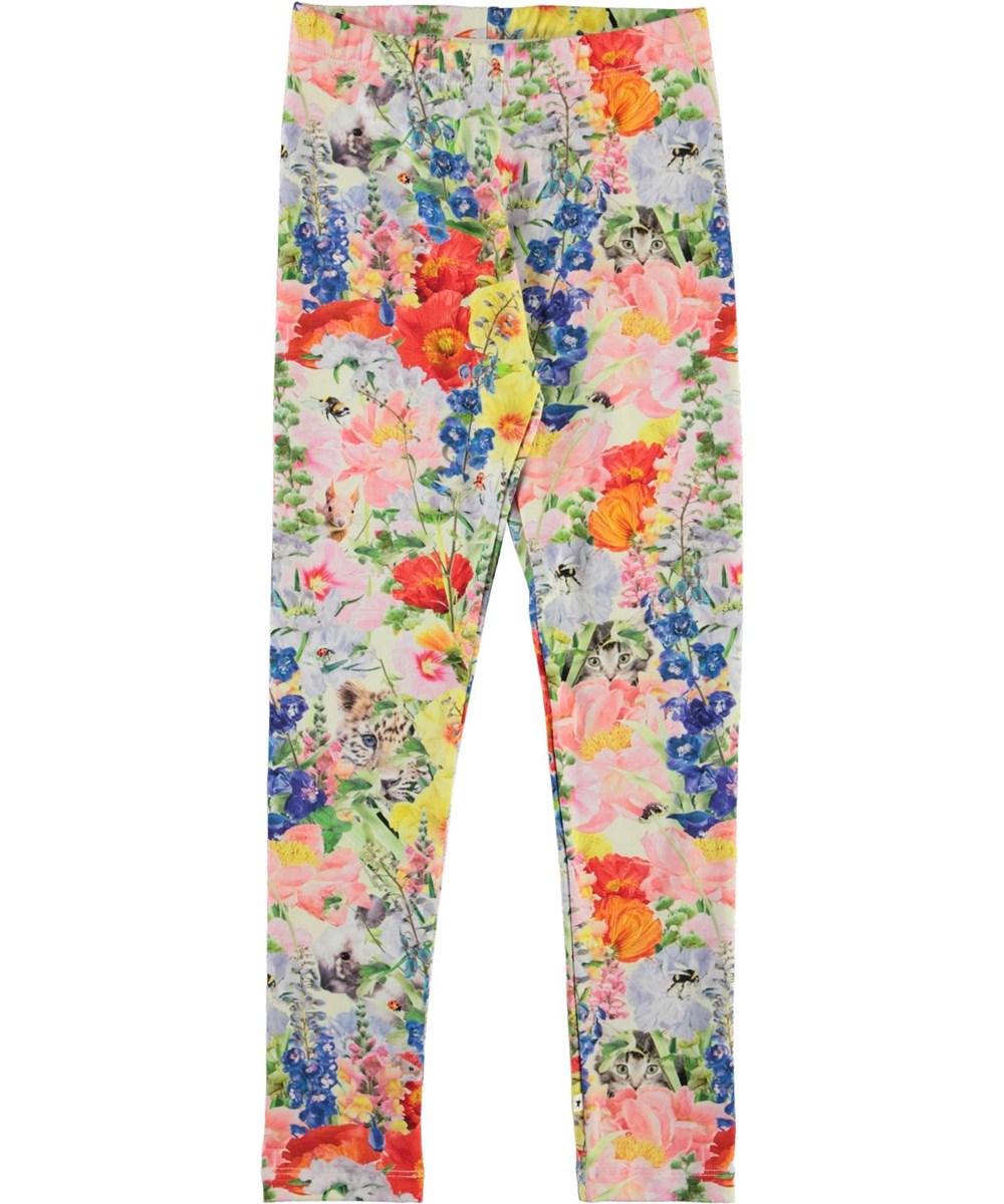 Niki - Hide And Seek - Organic leggings with flowers