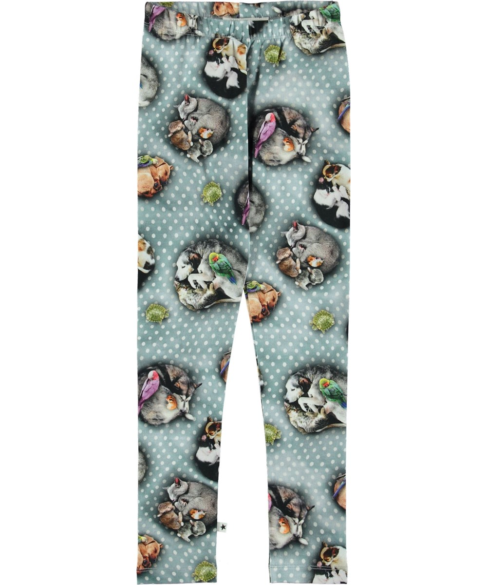Niki - Pets'n Dots - Leggings with dots and animals.