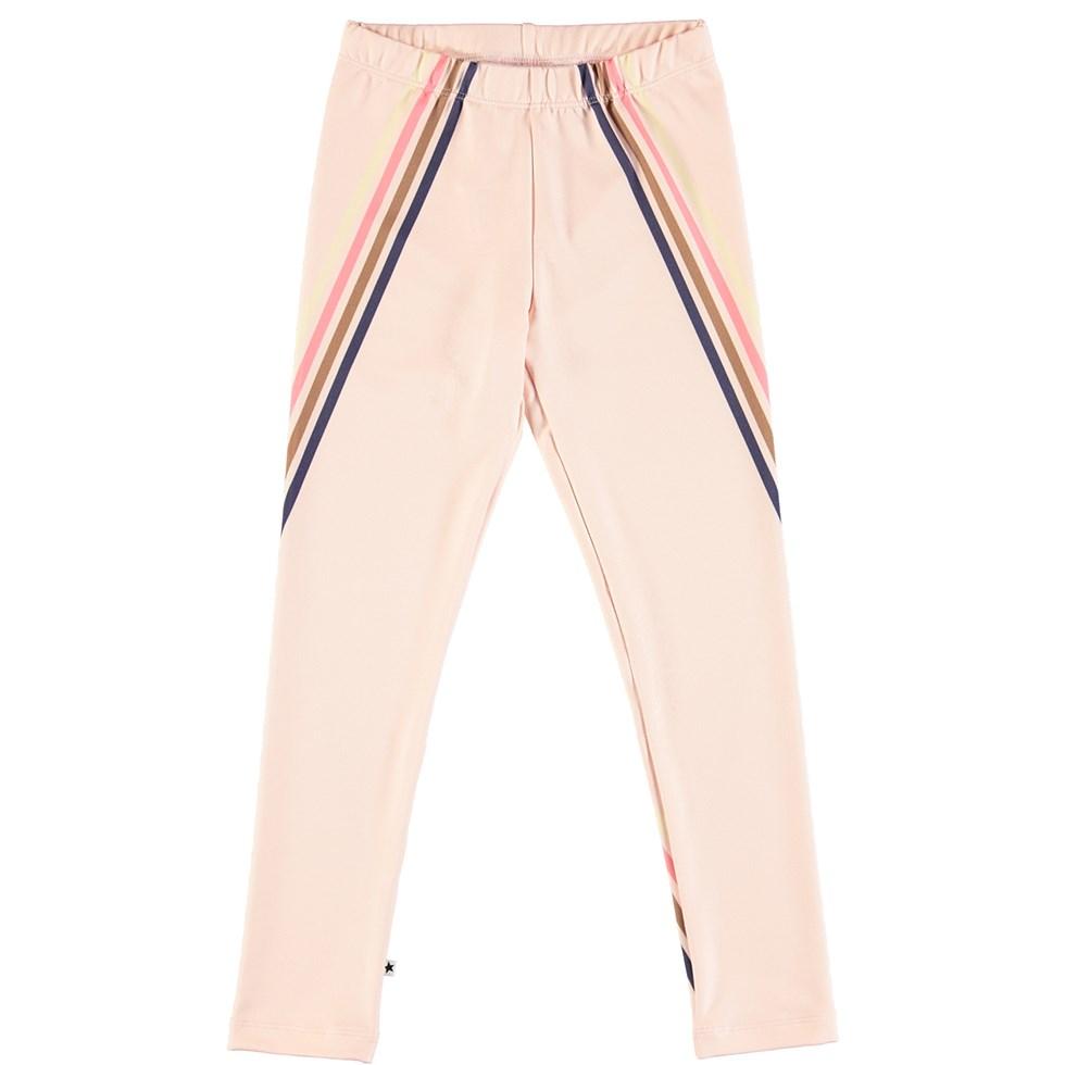 Nikia - 4 Stripes Dawn - Long, thick leggings with stripes