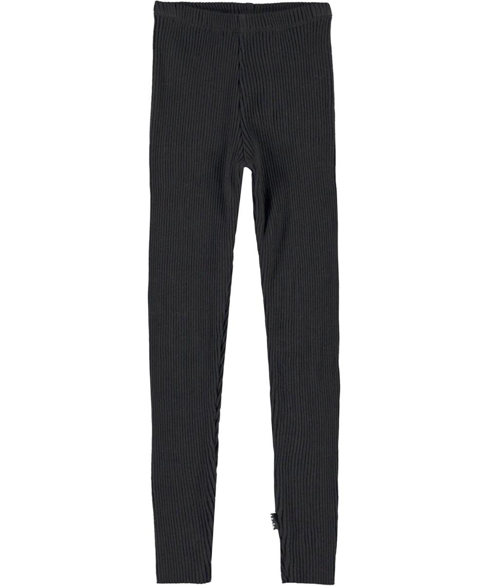 Nikita - Black - Black rib leggings