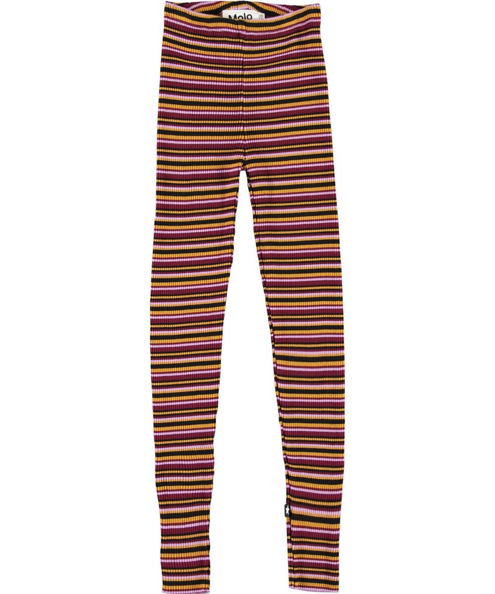 Nikita - Multi Jersey - Striped rib leggings