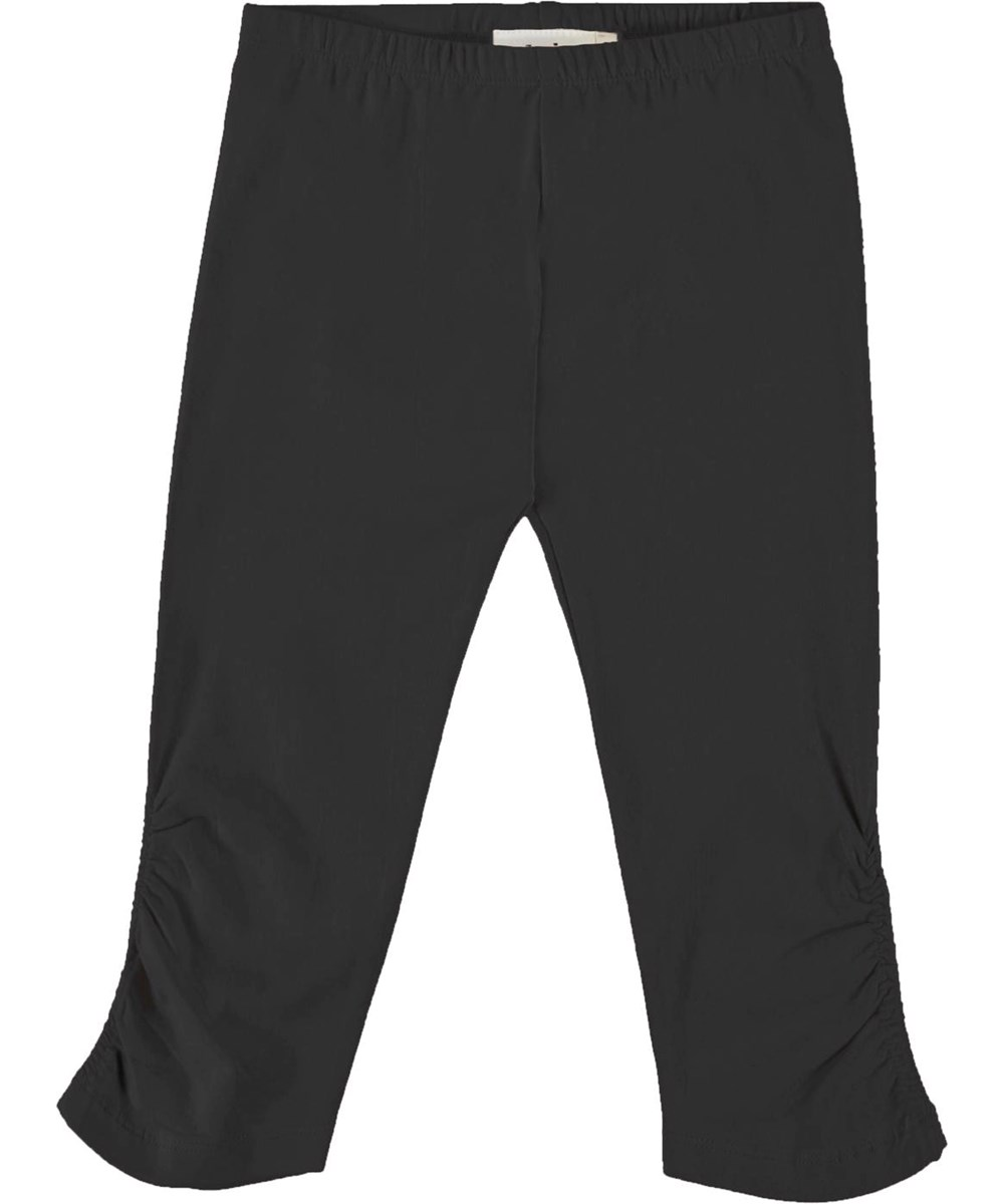 Nila - Black - Short, black organic leggings