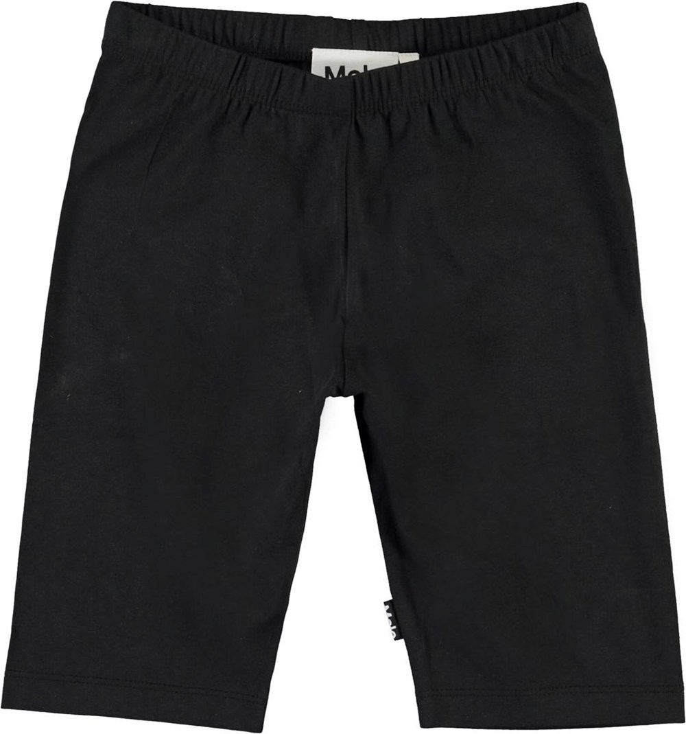 Nitza - Black - Black organic cycle shorts