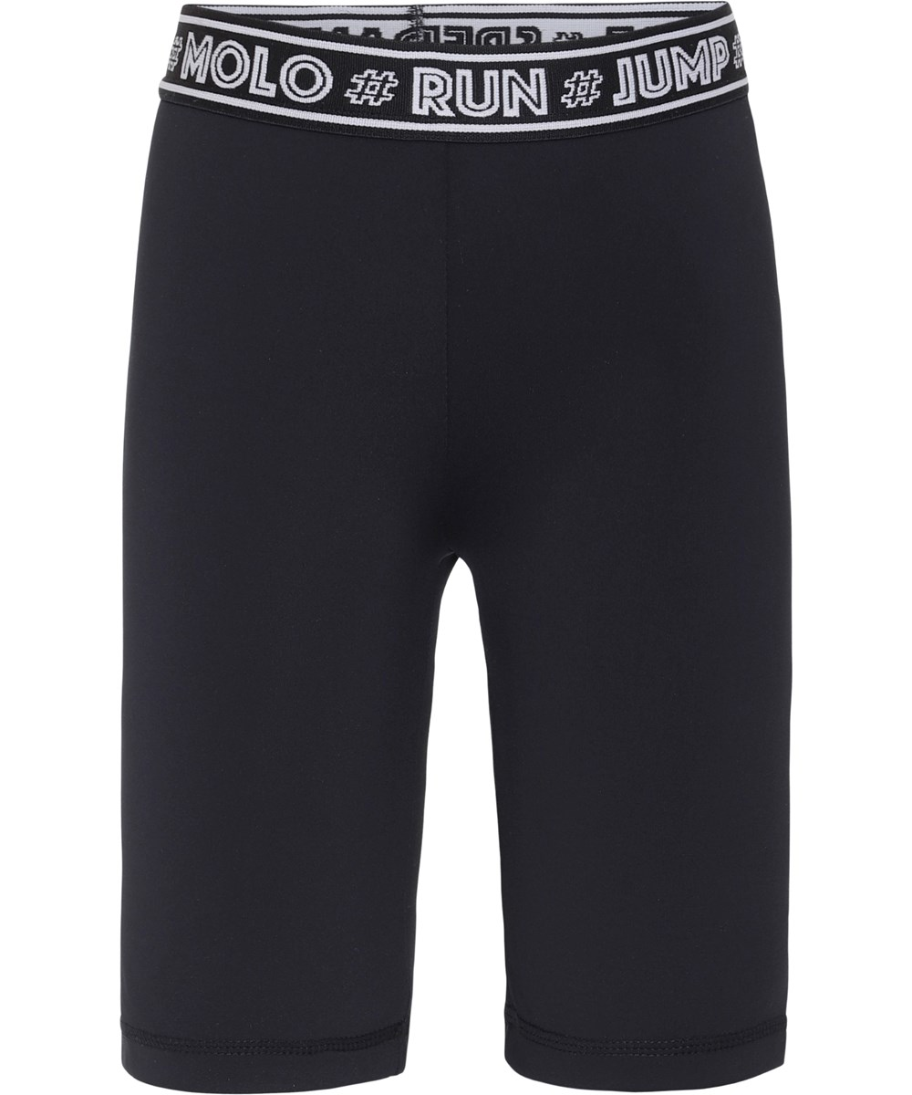 Obelia - Black - Black sports shorts