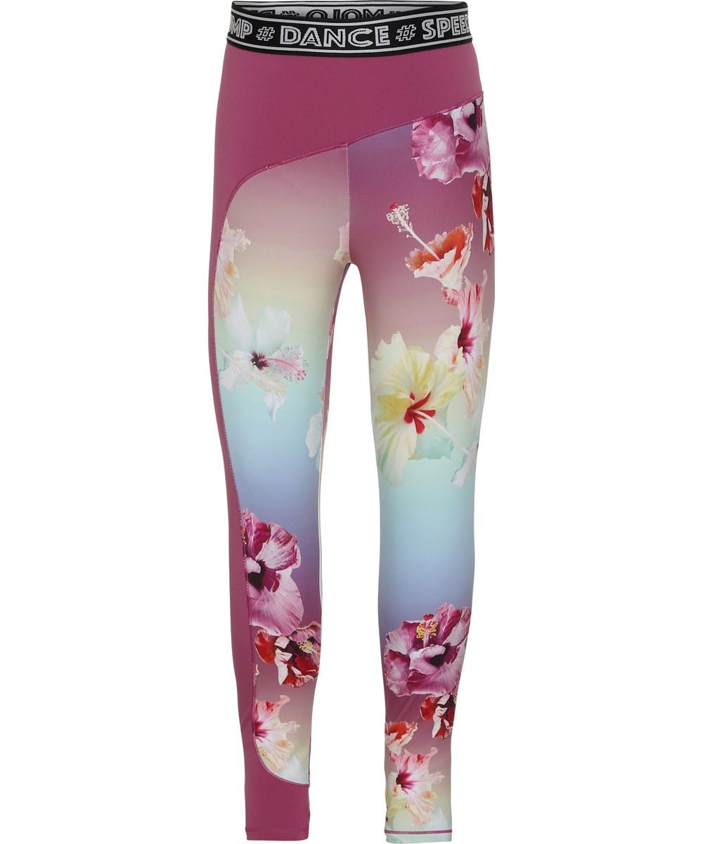 Olympia - Hibiscus Rainbow - Floral sports leggings