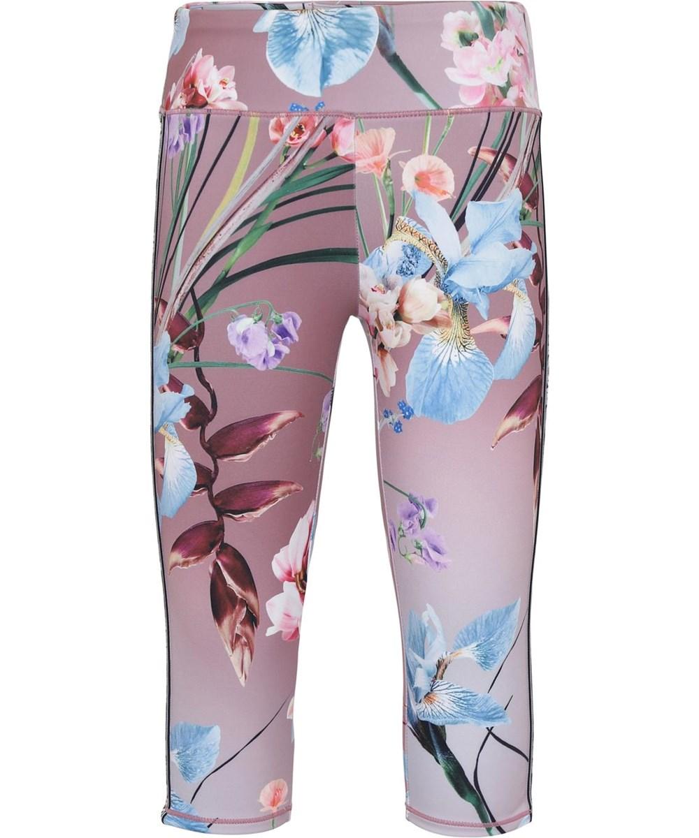 Orlaith - Motion Flowers - Short floral leggings