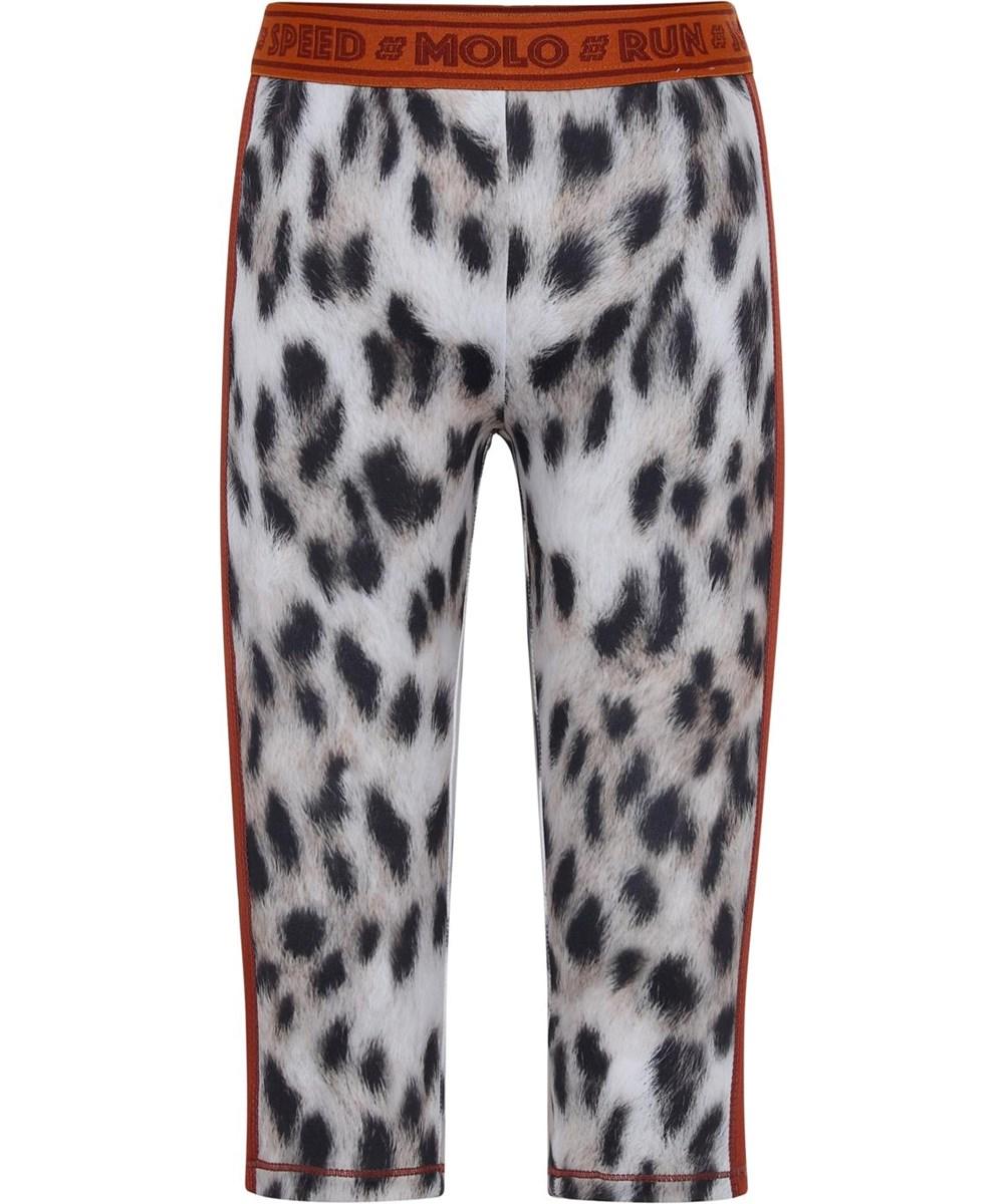 Orlaith - Snowy Leo Fur - Sport leggings snow leopard print