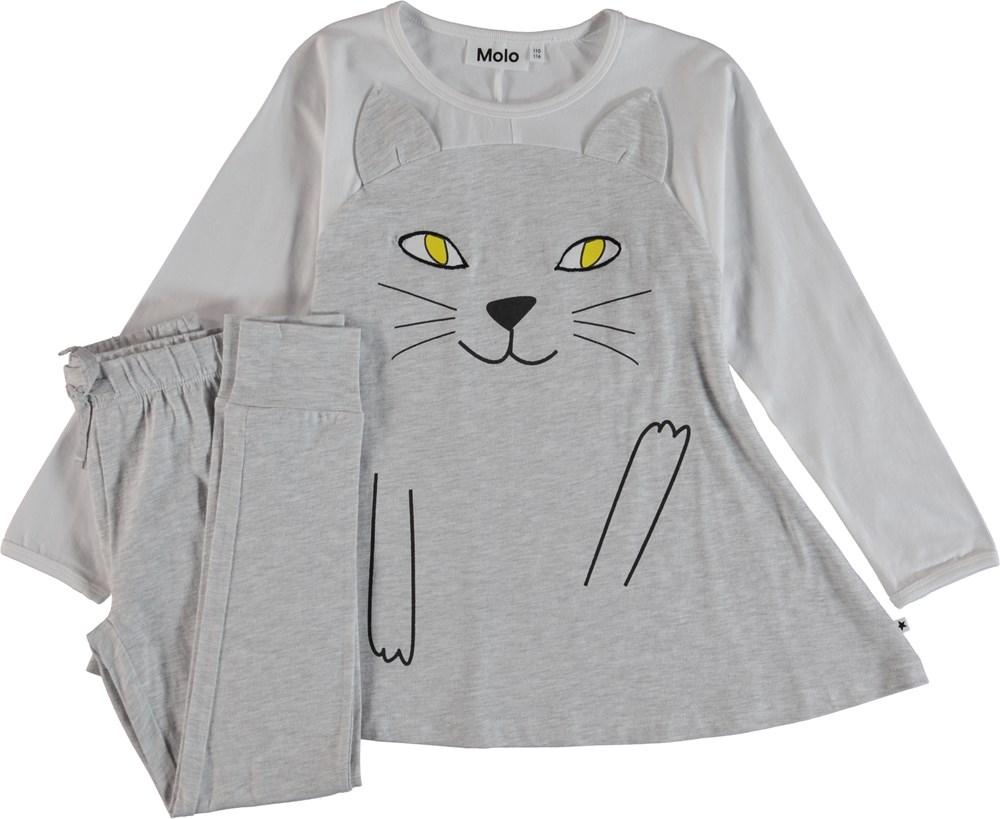 LilCat - Light Grey Melange - Pyjama Set