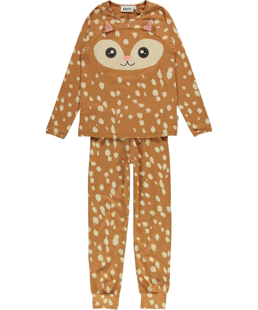 Linni - Deer - Organic nightwear with deer and white spots