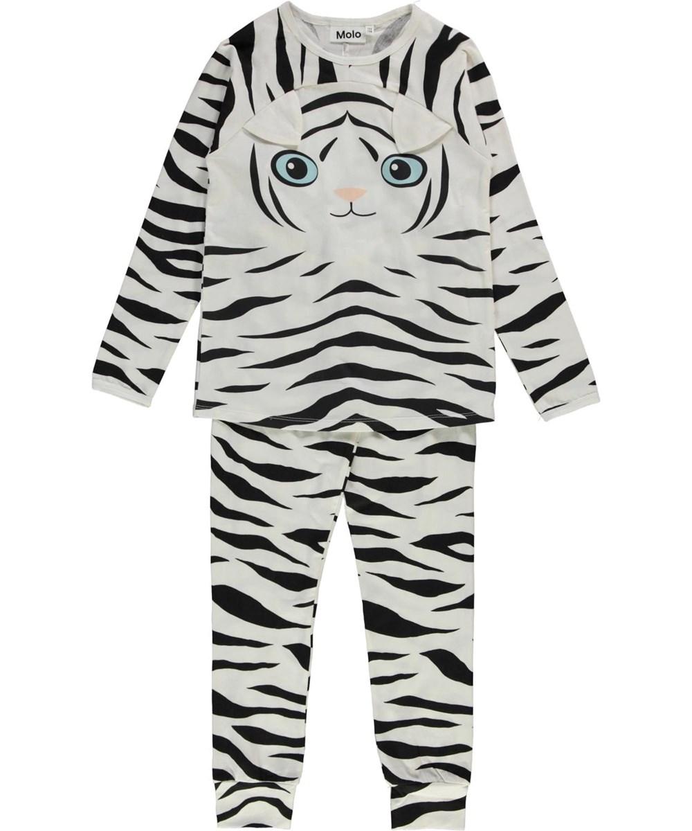 Linni - Night Tiger - Organic nightwear set with tiger stripes