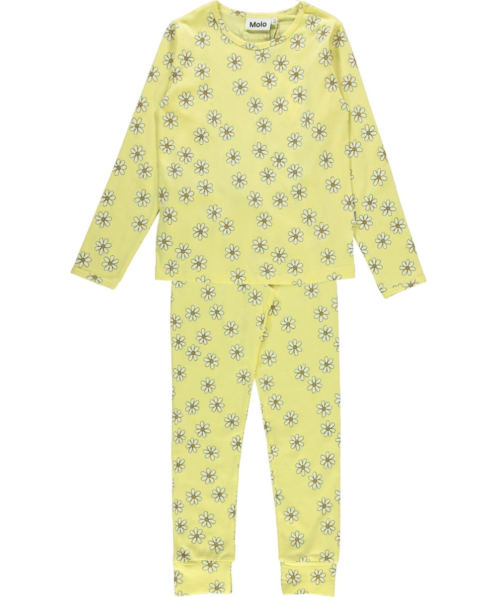 Lov - Flower Moods - Light yellow organic  nightwear set