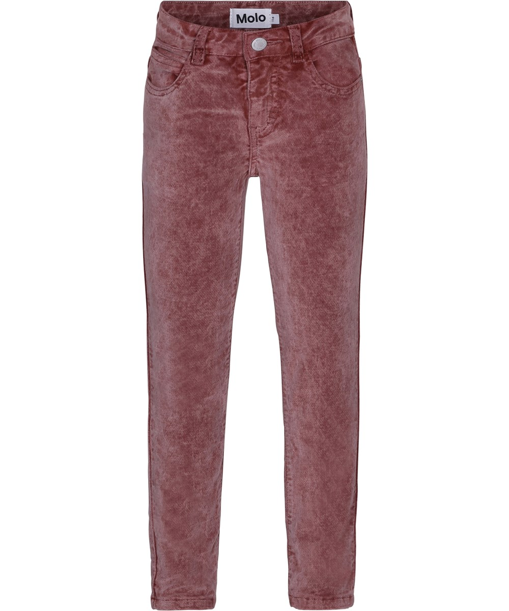Adele - Autumn Berry - Cool jeans in dark rose velour