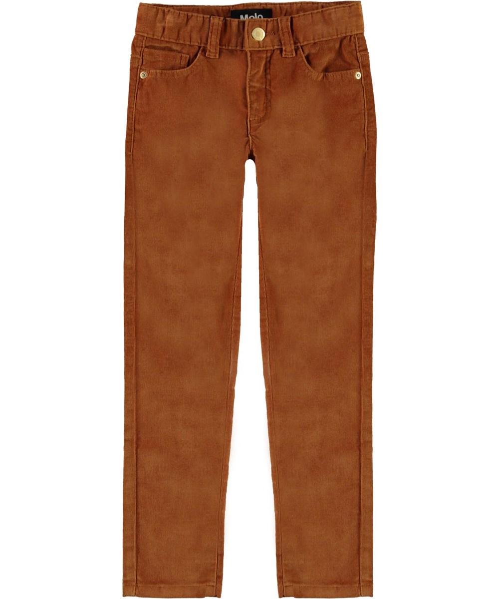 Adele - Deer - Slim brown corduroy jeans