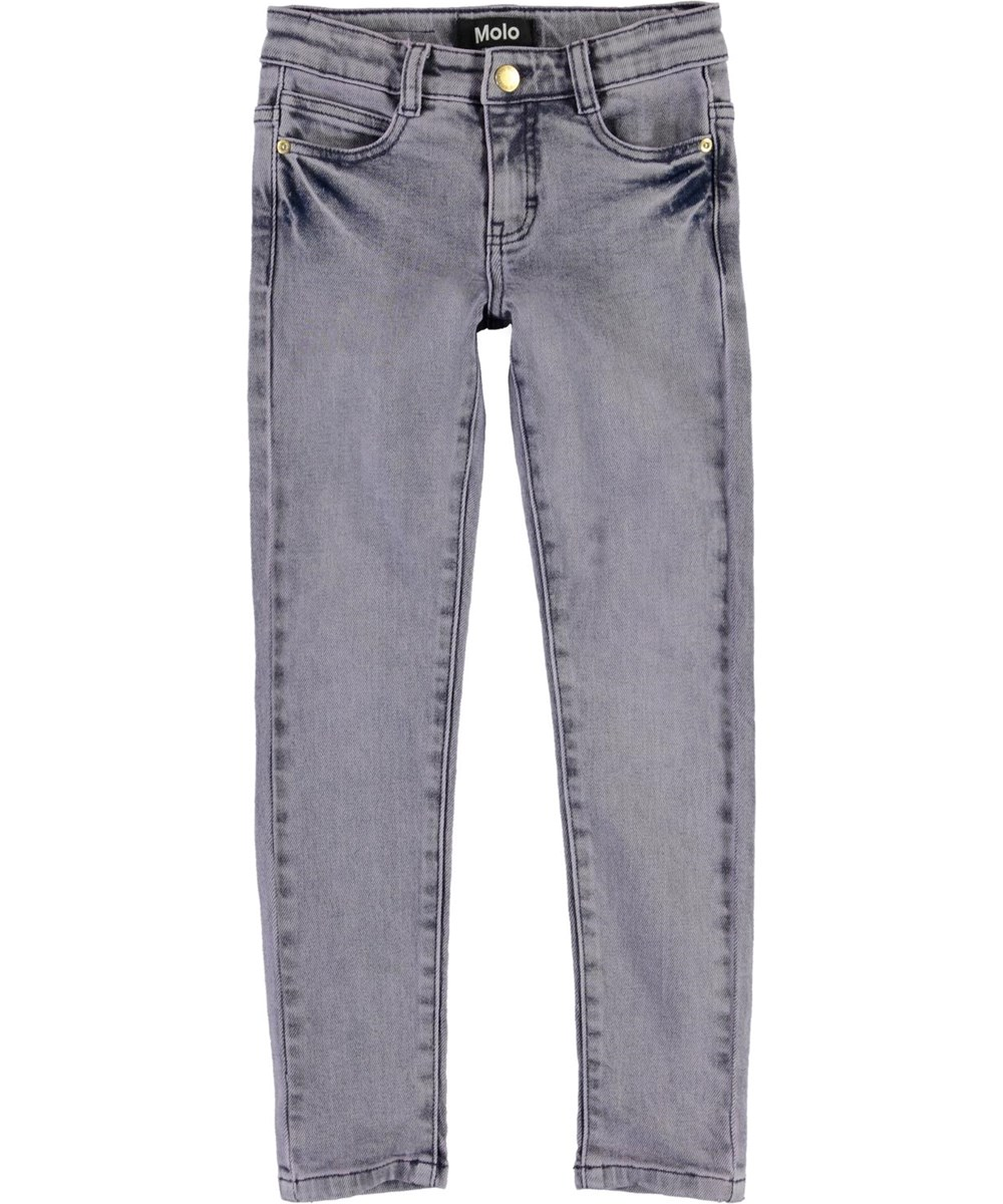Adele - Grey Purple Denim - Grey-purple jeans