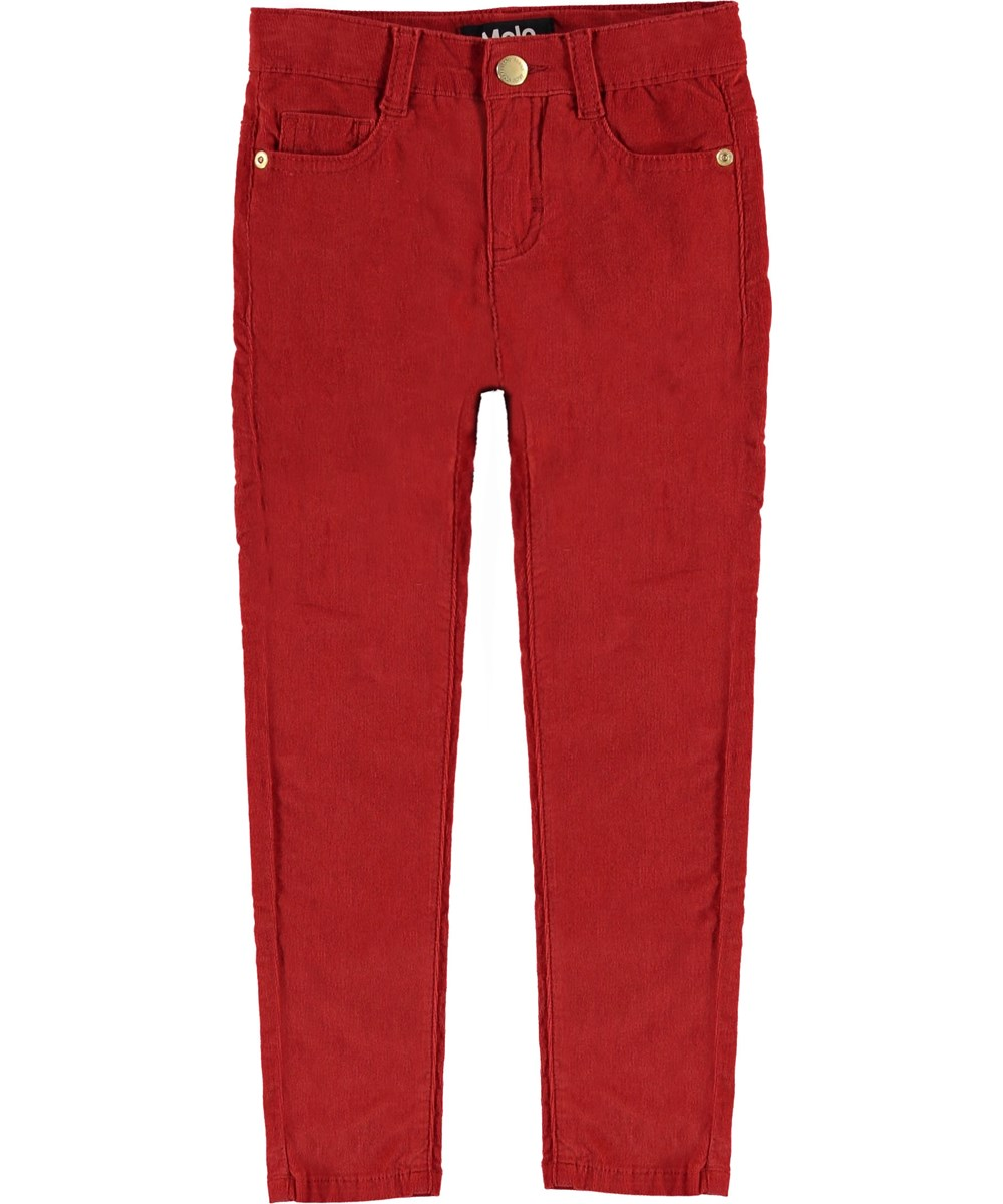 Adele - Vermilion Red - Red slim jeans.