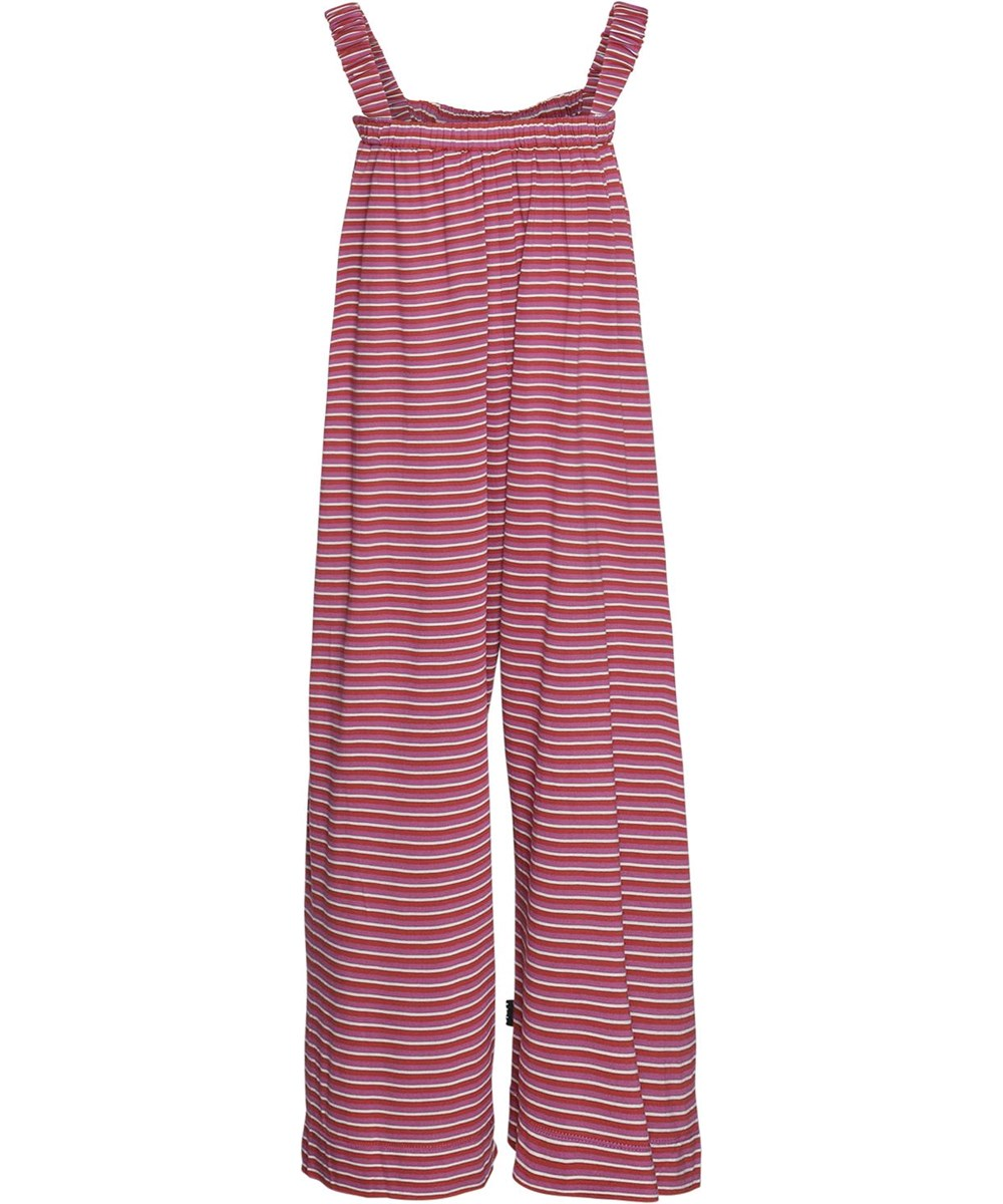 Aeisha - Narrow Bossa Rose - Red and rose striped pantsuit