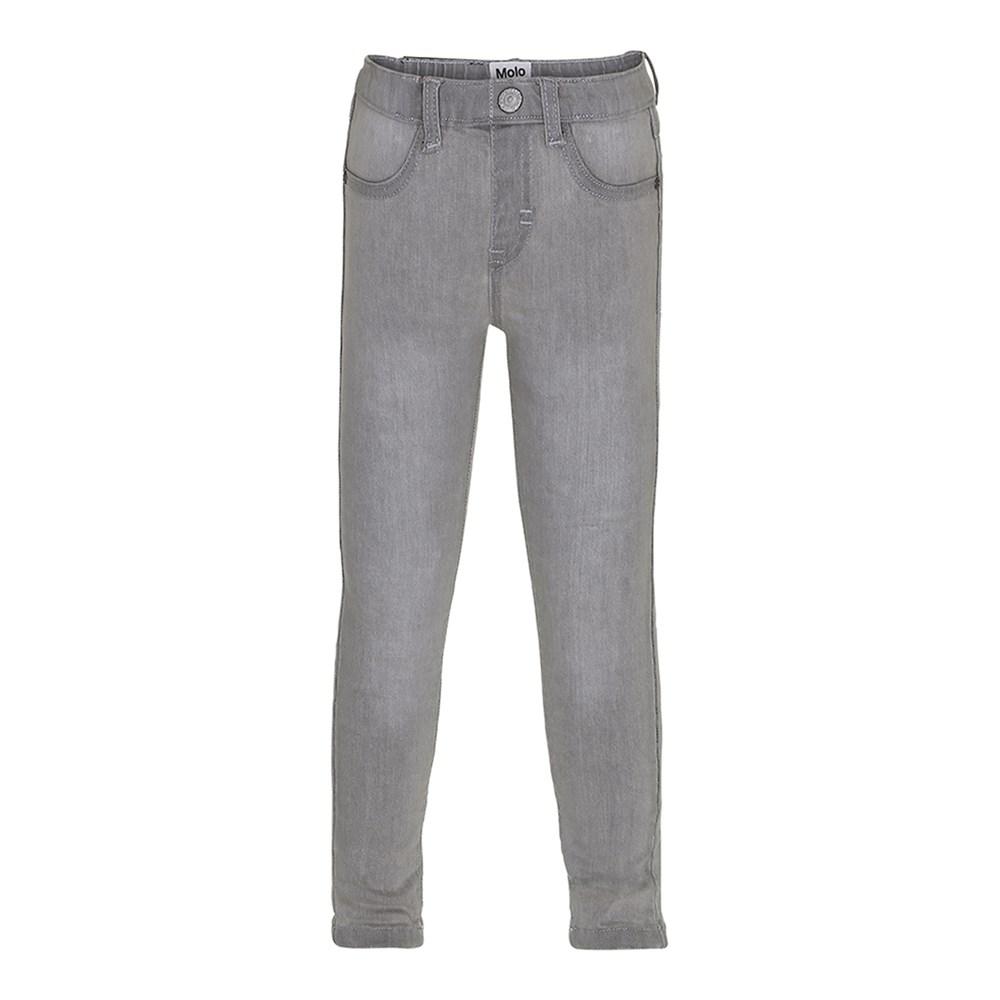 Aida - Grey Washed Denim - Grey jeggings in jeans look