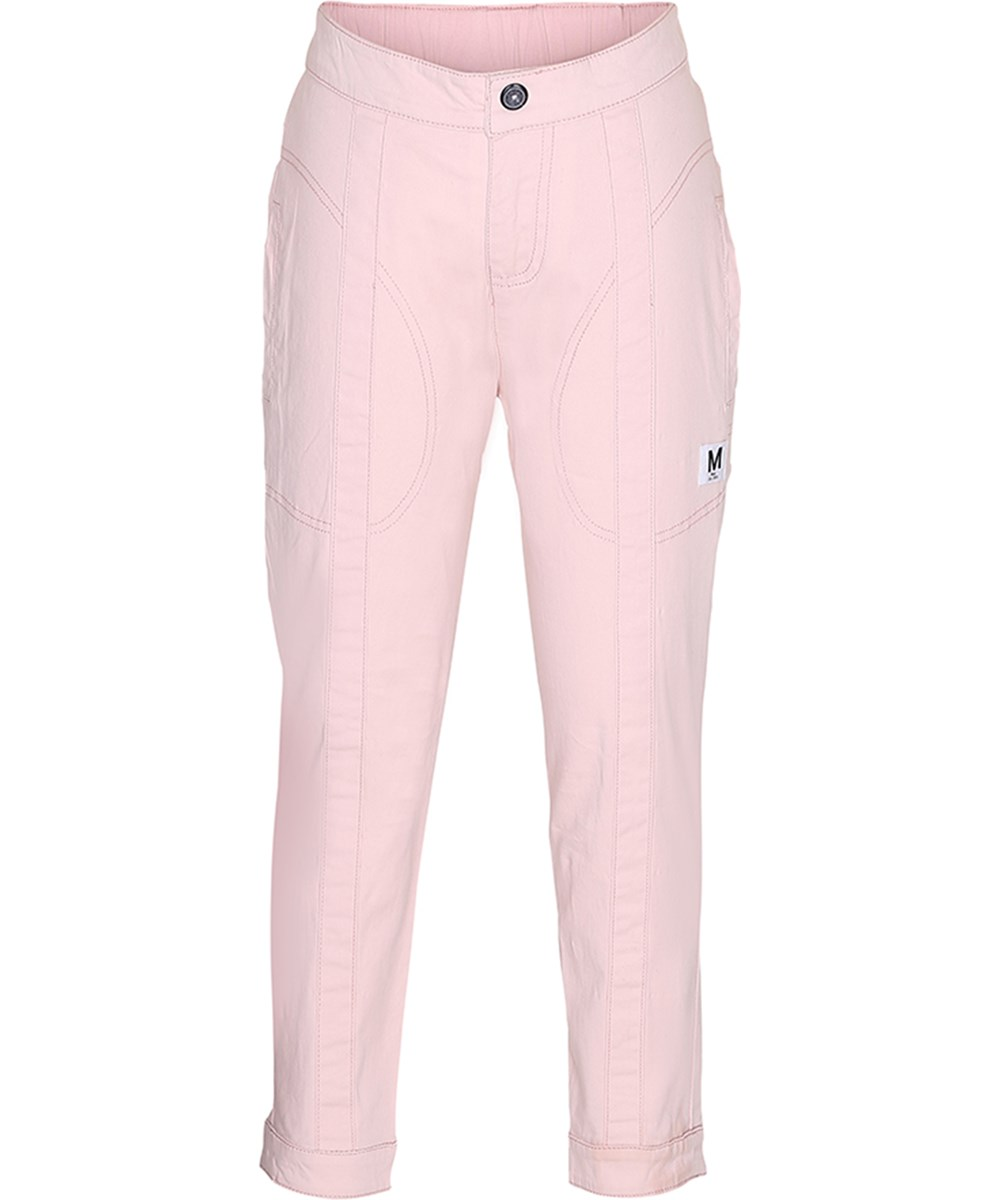 Alandra - Peach Puff - Pink trousers with pockets